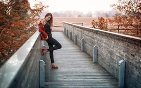 Picture girl, bridge, Natalia