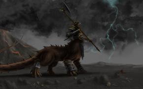 Picture monster, Fantasy, Warhammer, chaos, chaos, haosity, shaggoth, takoor, Kolek, solntseedy, suneater, dragon ogre, shaggoth