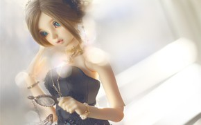 Picture girl, toy, doll, hairstyle