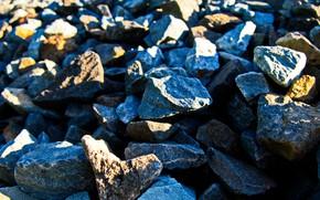 Picture the sun, macro, light, blur, Stones, stones