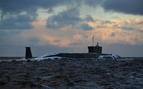 Wallpaper sea, submarine, project 955 Borey