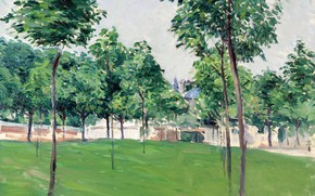 Picture landscape, picture, The walk at Argenteuil, Gustave Caillebotte, Gustave Caileibotte