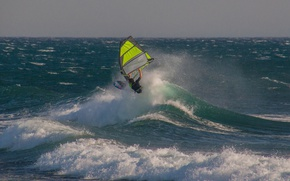 Wallpaper sail, the wind, Board, wave, Windsurfing, sea