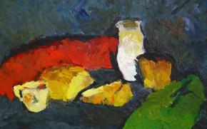 Picture 2006, cheese, bread, mug, still life, The petyaev