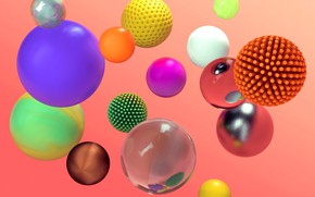 Picture abstraction, paint, ball, sphere, the volume