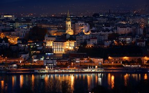 Wallpaper Serbia, the city, A night in Belgrade, the evening, Belgrade