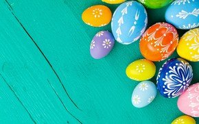 Picture eggs, spring, Happy, the painted eggs, Easter, Easter, wood, colorful, decoration, spring