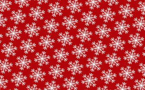 Picture winter, snowflakes, holiday, pattern, New Year