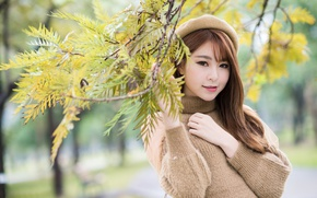 Picture look, Asian, cutie, takes, sweater