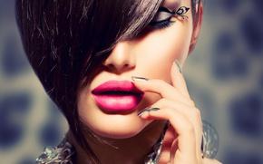 Picture girl, decoration, eyelashes, model, makeup, Anna Subbotina