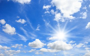 Picture clouds, Nature, the sun, clear weather