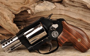 Wallpaper weapons, revolver, weapon, custom, Smith & Wesson, Military Police, 357 Magnum, revoler, chrome and black, ...