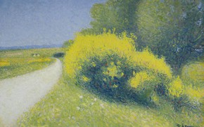 Picture landscape, picture, Achille Lauge, Achilles Box, The road on the Outskirts of Cayo