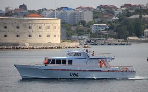 Picture the black sea, Sevastopol, special boat connection