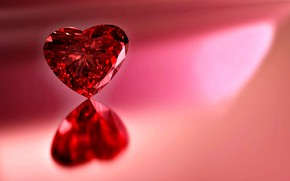 Picture light, reflection, background, heart, Shine, Rubin, gemstone, red