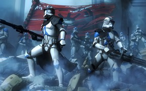 Picture soldiers, star wars, armor, banner, stormtrooper