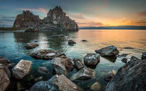 Picture water, light, stones, rocks