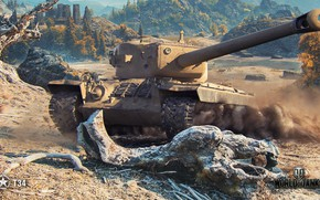 Wallpaper American, WoT, World of Tanks, T34, Wargaming