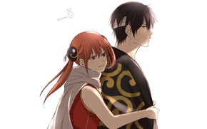Picture anime, art, two, Gintama