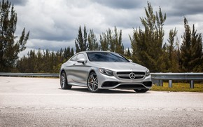 Picture Mercedes, Sky, Blue, AMG, Coupe, Silver, S63