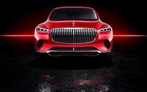 Picture Mercedes-Benz, Vision, front view, 2018, Mercedes-Maybach, electrocreaser, Ultimate Luxury
