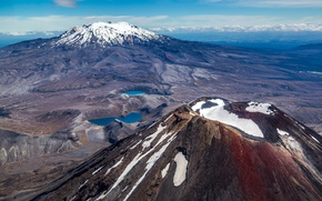 Picture snow, mountains, tops, the volcano, New Zealand, New Zealand, Tongariro