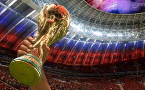 Picture The ball, Sport, Hand, Football, Russia, 2018, Stadium, FIFA, FIFA, Luzhniki, Cup, World Cup 2018, …