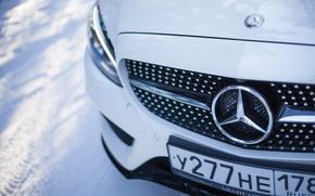 Picture winter, car, machine, auto, city, fog, race, tale, car, red, mercedes, sports car, car, need …
