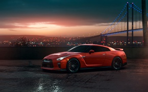 Picture GTR, Nissan, Red, Car, Sunset, R35, View