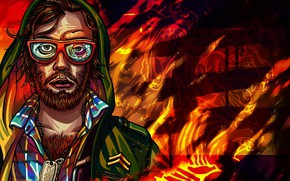 Picture The game, Glasses, Face, Background, Beard, Miami, Character, Beard, Hotline Miami, Synthpop, Darkwave, Synth, Retrowave, …
