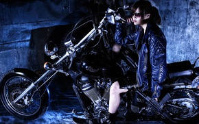 Picture style, weapons, bike, Asian