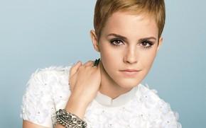 Picture portrait, actress, Emma Watson, Emma Watson, celebrity, short hair