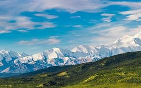 Picture snow, mountains, nature, Alaska, USA