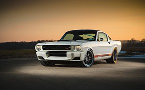 Wallpaper Ford Mustang, 1965, White, Modifield