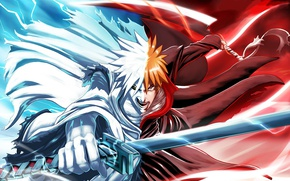 Picture hero, powerful, Shirosaki, oriental, ken, asiatic, asian, man, hollow, tensa zangetsu, shihakushou, Bleach, vasto lorde, …