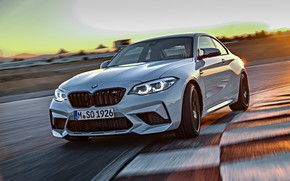 Picture coupe, track, BMW, 2018, F87, M2, curbs, M2 Competition