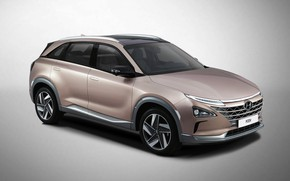 Picture Hyundai, side view, 2018, crossover, CES, Nexo