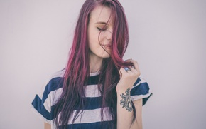 Picture girl, hair, colored, portrait