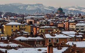 Picture winter, snow, home, Italy, Winter in Bologna
