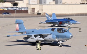 Picture aviation, the airfield, EA-18G Growler, EA-6B Prowler