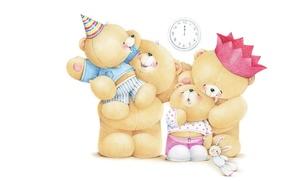 Picture children, mood, holiday, family, art, mom, bears, dad, children's, Forever Friends Deckchair bear, Teddy Bears