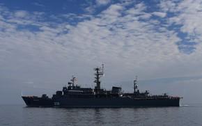 Picture the black sea, Perekop, training ship, leaving Sevastopol