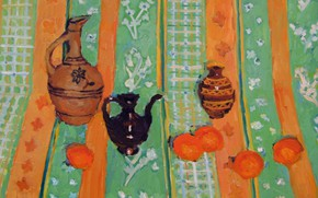 Picture 2006, kettle, vase, pitcher, still life, persimmon, The petyaev