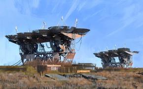 Picture construction, telescope, Playground, Pluto-M Complex, radiotelescope