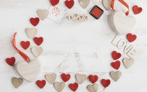 Picture tree, hearts, Holiday, Valentine's day