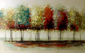 Picture trees, picture, watercolor