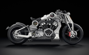 Picture motorcycle, The dark background, confederate g2 p51 combat fighter