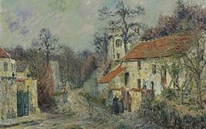 Picture home, picture, Gustave Loiseau, Gustave Loiseau, Winter Landscape in Chaponval