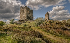 Picture castle, tower, ruins, Wales, Dolwyddelan