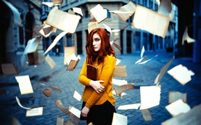 Picture girl, book, page, Ronny Garcia